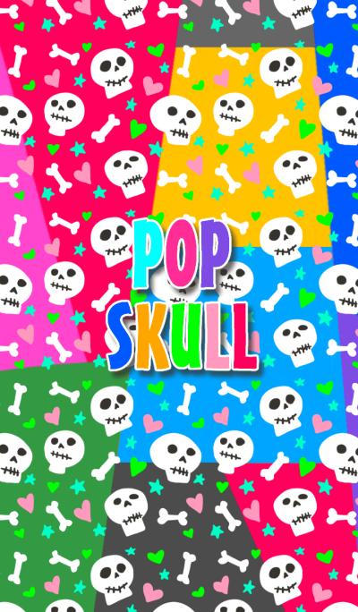 Pop skull patch