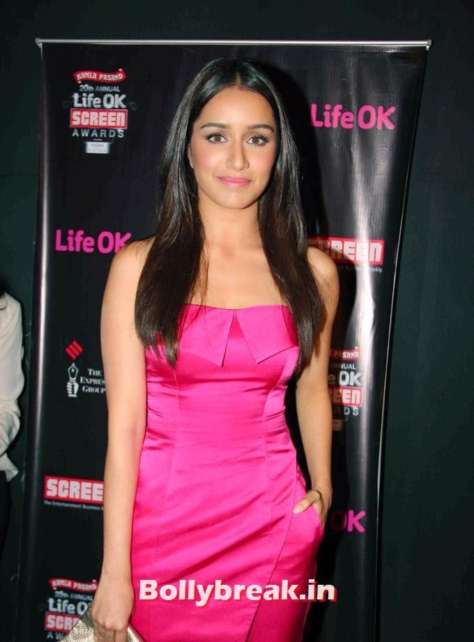 , Shraddha Kapoor at Nominations party of Life OK Screen Awards 2014