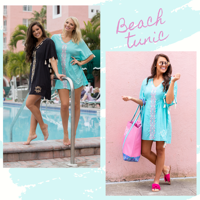 Monogram beach tunics as a cover up and outfit