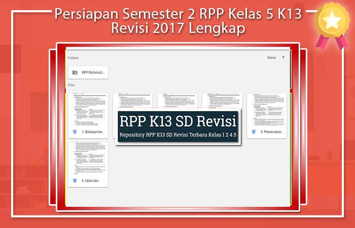 RPP Matematika Kelas 5 Kurikulum 2013 Revisi 2017
