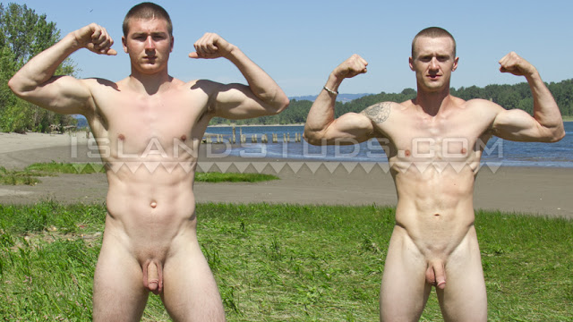 Island Studs - Football Nude #10: Beefy High School Jock Colt & Ripped Arborist Brent Flex, Pee & Sweat in Hot Duo Action!