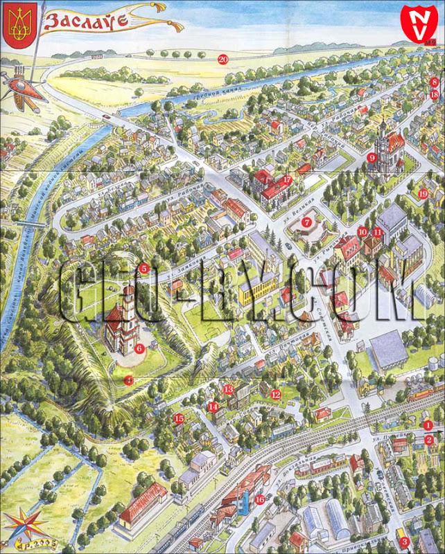 Карта Заславля