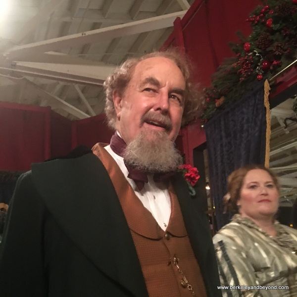 Charles Dickens at The Great Dickens Christmas Fair in San Francisco