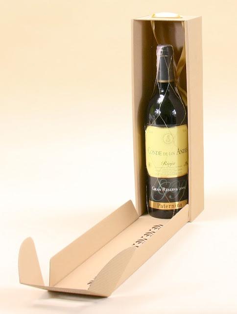 pudełko na wino szare z logo