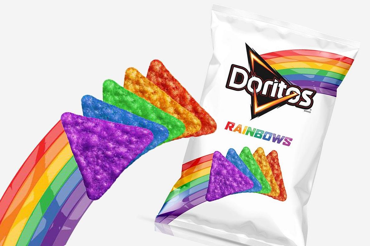 Doritos lança no Brasil salgadinho nas cores do arco-íris com doações para Casa1