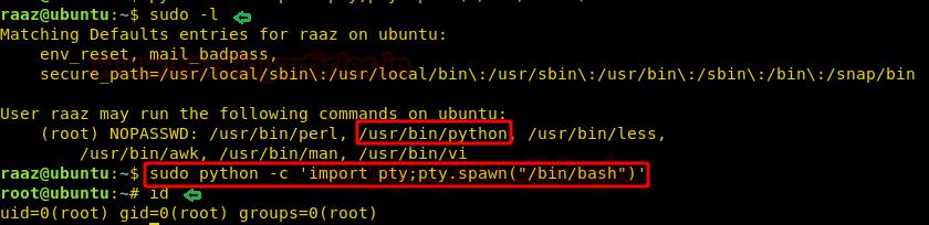Linux Privilege Escalation using Sudo Rights