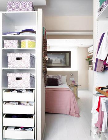 vestidor en vivienda reformada