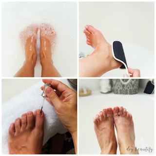 at-home pedicure
