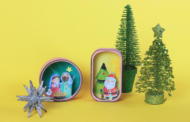Um presépio de Natal miniatura para você imprimir e montar rapidinho!