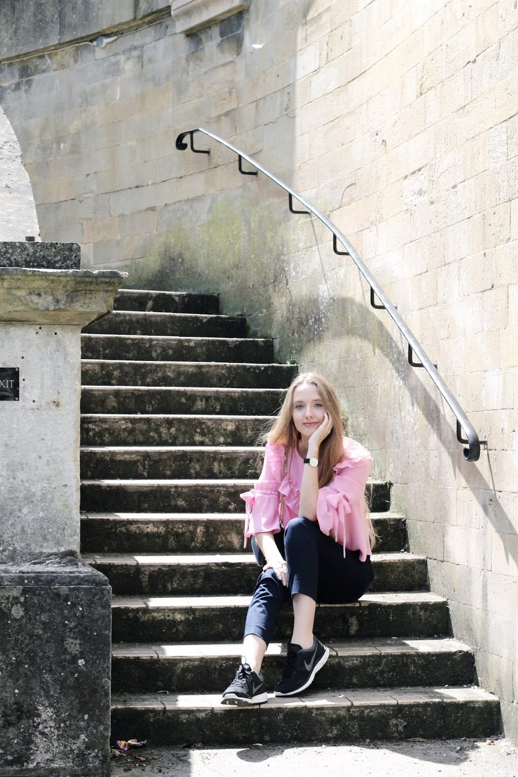 Steps leading to the Parade Gardens in Bath