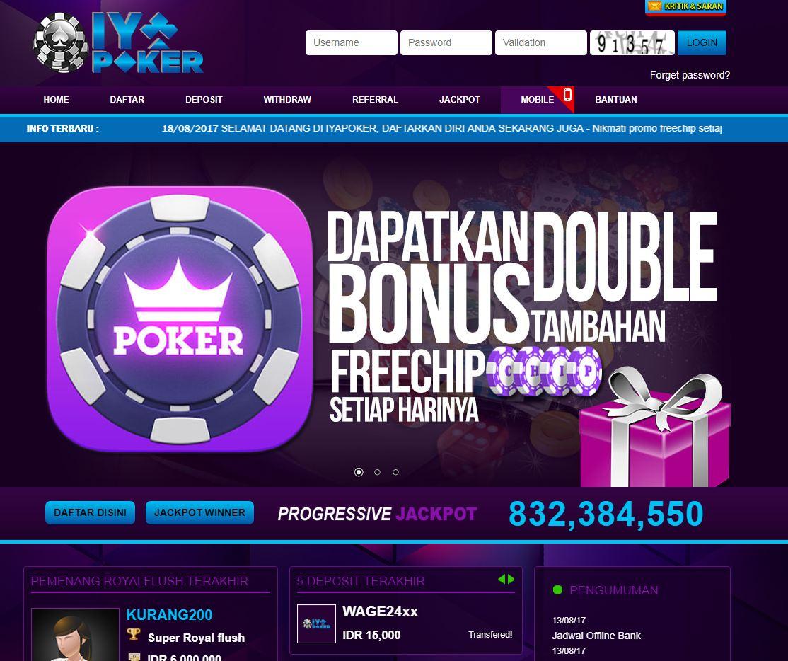 IyaPoker - Situs website Poker indonesia terpercaya