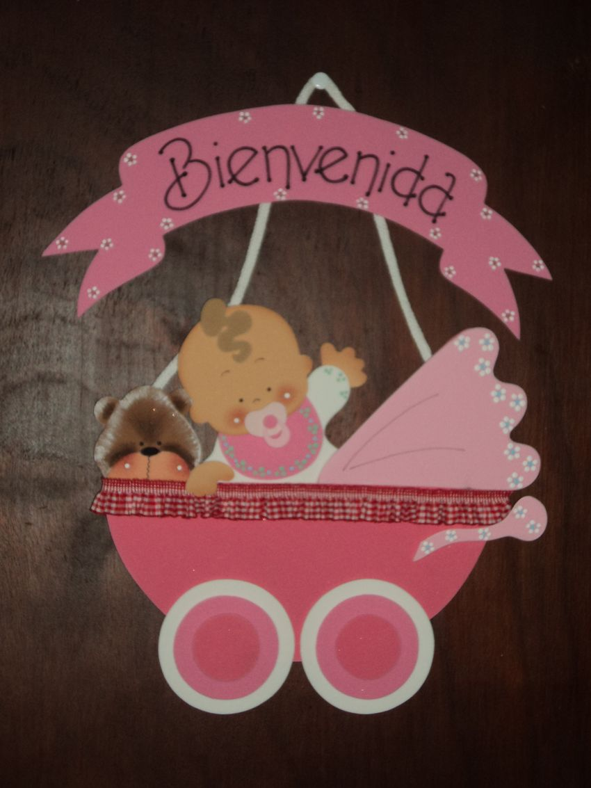 Tutorial de artesan as cartel de bienvenida para beb s for Como hacer artesanias en casa