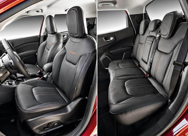 Fiat Toro Volcano 2.0 4x4 Diesel - interior - espaço interno