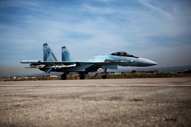 Su-35S Local Version in Syria - Credits: Russian MoD