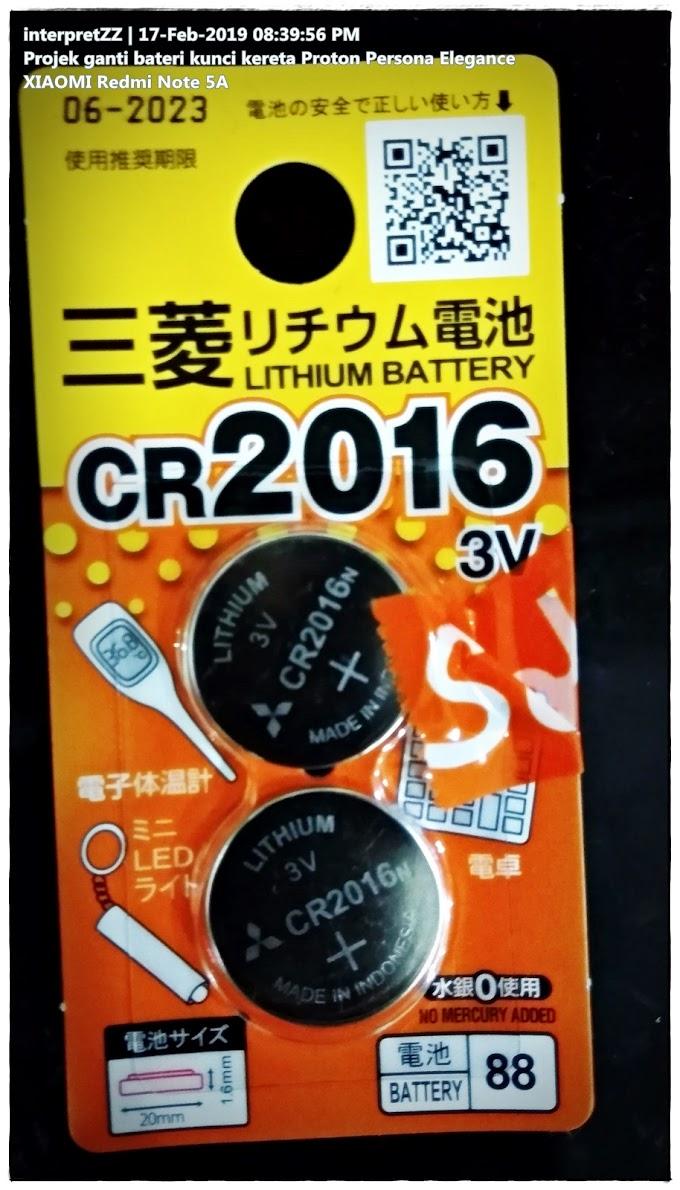 Projek Ganti Bateri Kunci Kereta Proton Persona