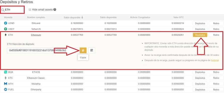 depósito ethereum en binance desde coinbase para comprar Status