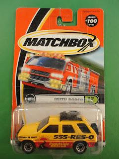 2000 Anniversary Car Matchbox 1/64 Diecast #100 Isuzu Rodeo Mint On Card