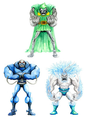 Doomsday Doppelganger Super Villain Print Set by Alex Pardee - Dr. Doom, Apocalypse & Doomsday