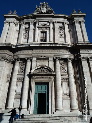 Fachada, Igreja dos Santos Luca e Martina