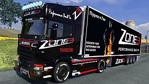 Scania R Zone 3 skin + trailer