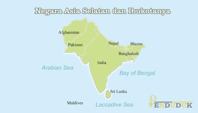 Negara Asia Selatan dan Ibukotanya