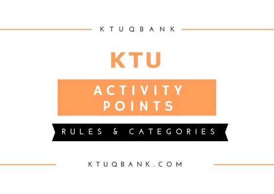 Rules For Assigning Activity Points For Students Under KTU
