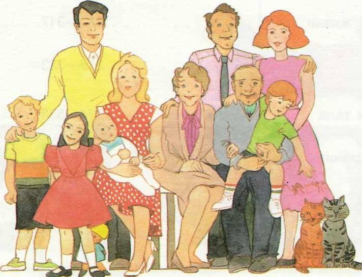 Открытки, детские картинки моя семья для детского сада