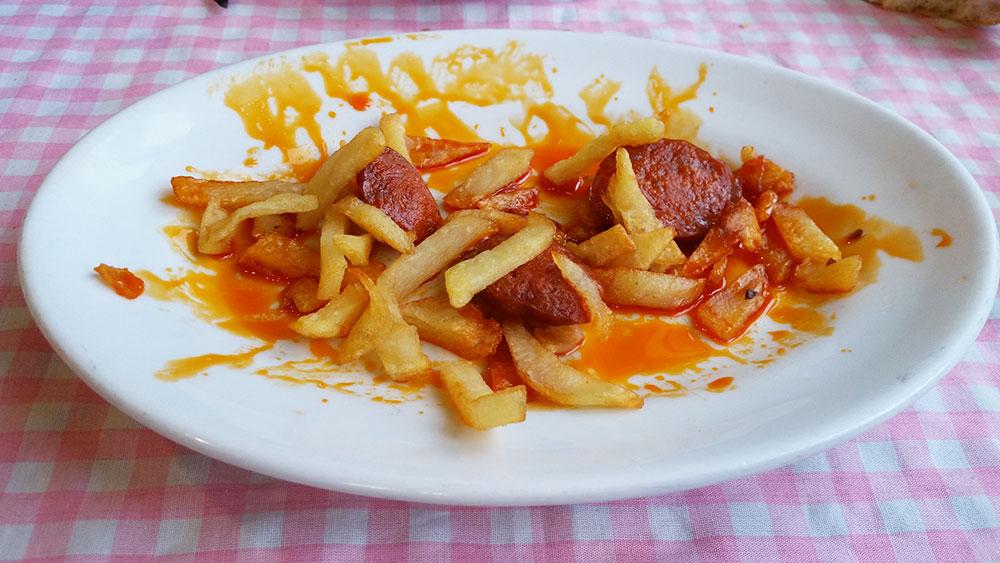 Chorizo al horno de Casa Colo en Ceceda