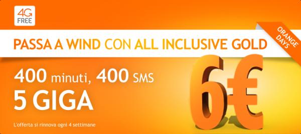 Ecco Come Avere 400 minuti, 400 SMS e 5 GB Di Internet 4g a soli 6 euro con Wind