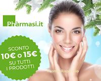 Logo Buono sconto da 10 o 15 euro per regalarti la bellezza Pharmasi
