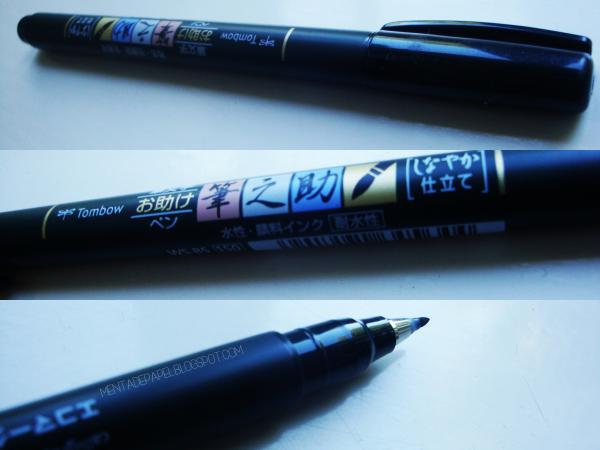 Brush Pen Tomboy Fudenosuke para lettering