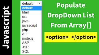 fill select options from array