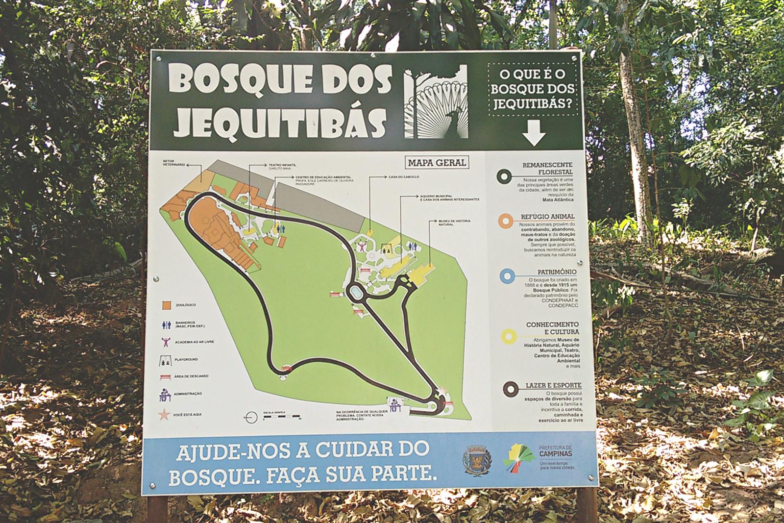 mapa bosque dos jequitibas