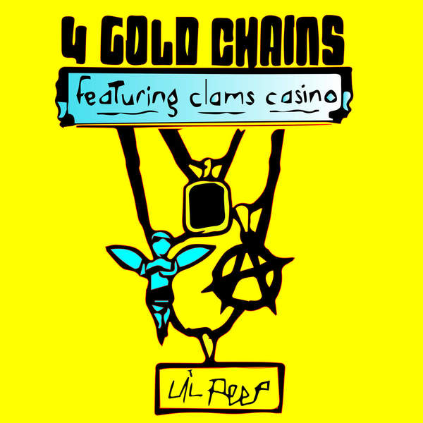 Lil Peep - 4 Gold Chains (feat. Clams Casino) - Single Cover