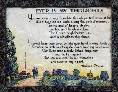 """Ever in my thoughts"" by Patience Strong"