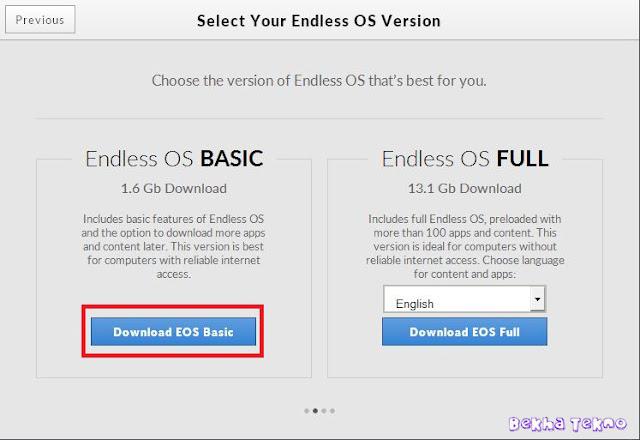 Instal OS Endless 3