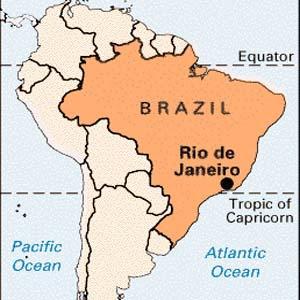 Αποτέλεσμα εικόνας για brasil and rio de janeiro on a map