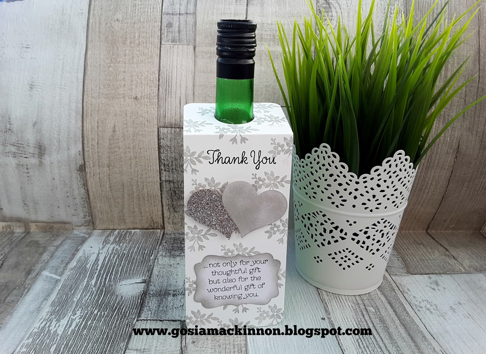 wedding favor wine bottle label  u0026 tags idea with stampin