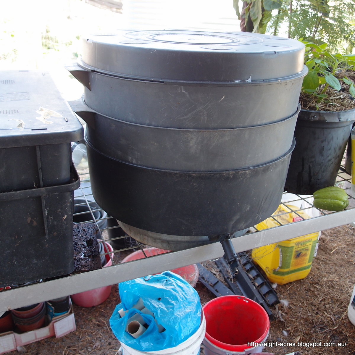 how to build a commercial worm bin