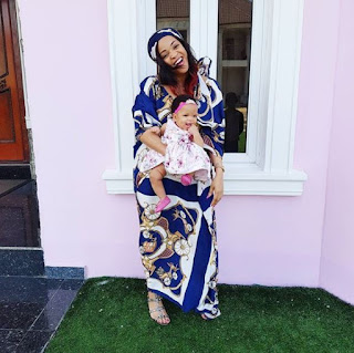 Joseph Yobo's Wife, Adaeze Yobo Shares Pictures Of Her Brestfeeding Her Baby Girl