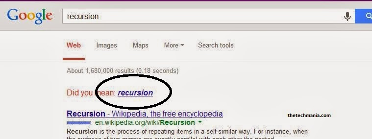 Recursion--Google Tricks