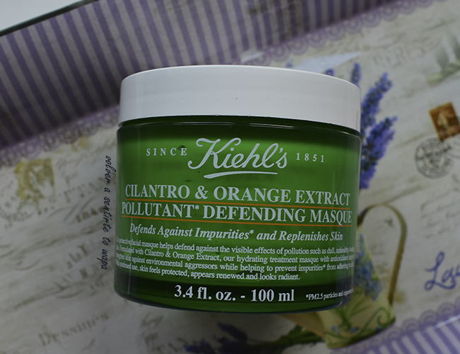 Mascarilla Antipolución: Cilantro & Orange Extract Pollutant Defending Masque de Kiehl's