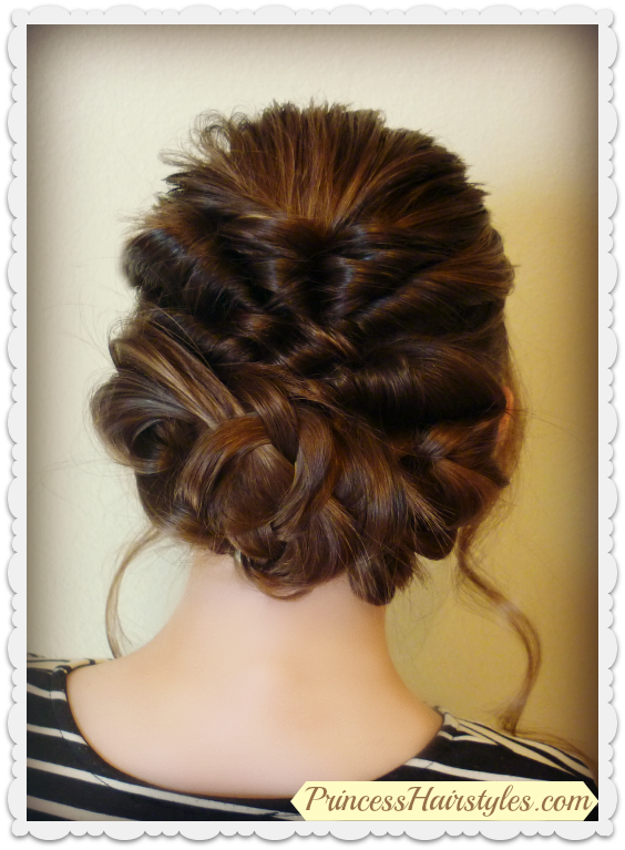Prom Wedding Hairstyle Romantic Updo With Twists Braids
