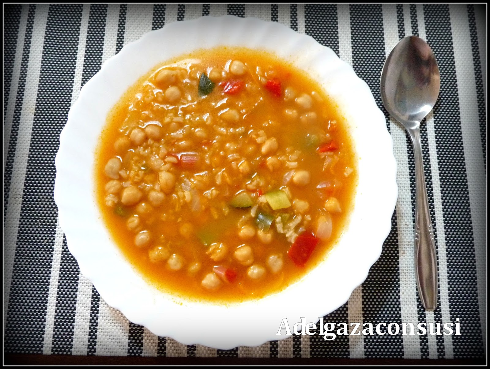 Recetas light adelgazaconsusi garbanzos con arroz y - Potaje garbanzos con arroz ...