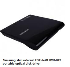Samsung slim external DVD-RAM DVD-RW portable optical disk drive