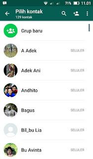 Cara memunculkan kontak di whatsapp terbaru