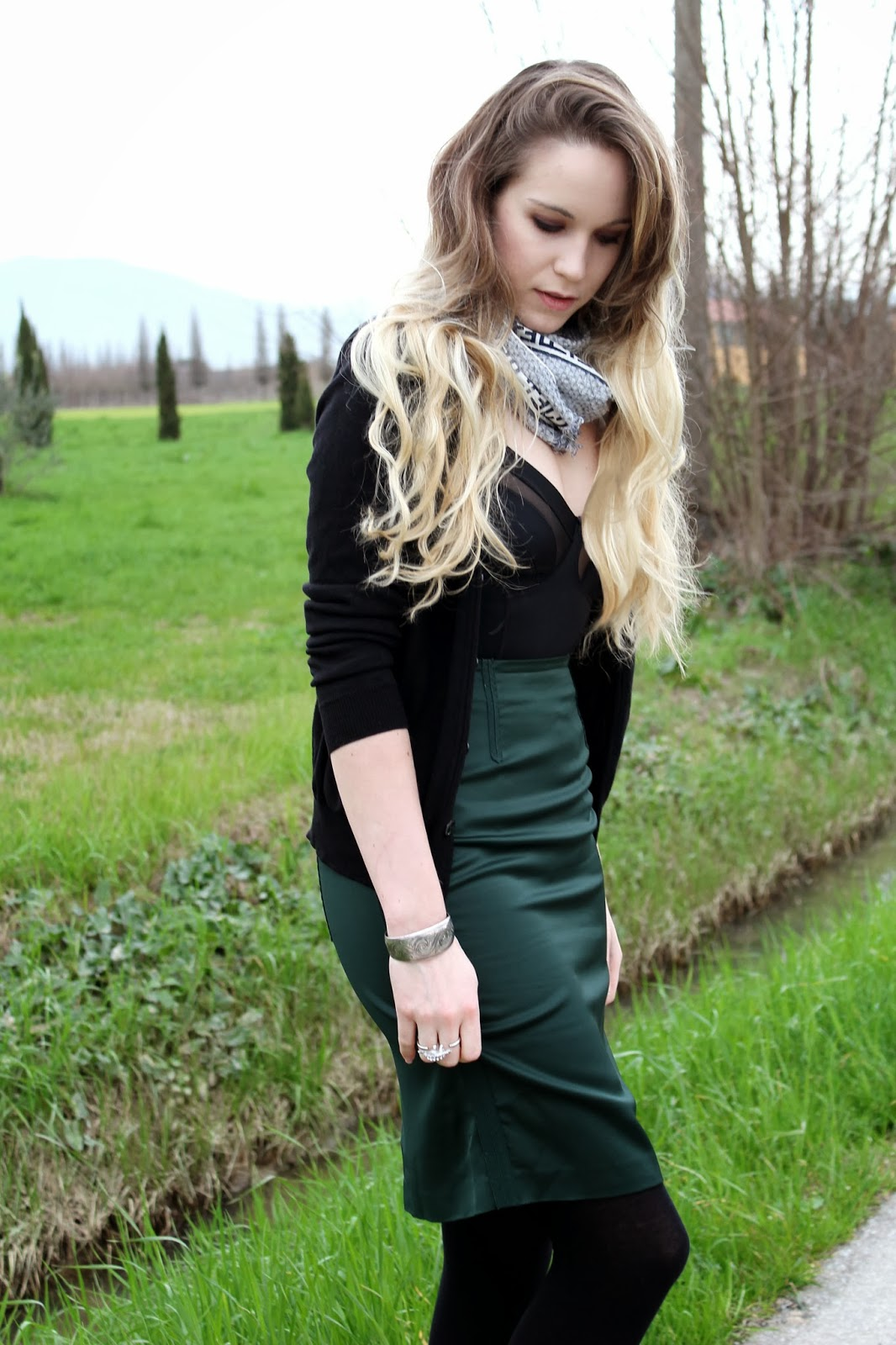 silk pencil skirt