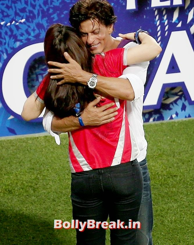 Shah Rukh Khan hugs Kings XI Punjab co-owner Preity Zinta after the IPL final, Preity Zinta Different Moods - IPL 7