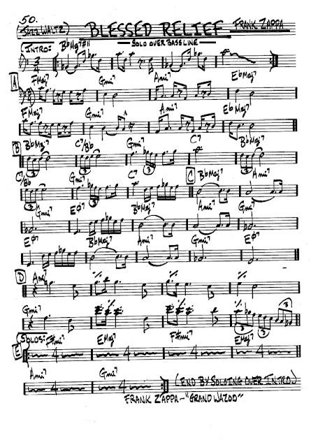 Partitura Violonchelo Frank Zappa