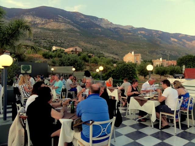 Dinner at the Chic ?Olive Lounge Restaurant? in Lourdas, Kefalonia